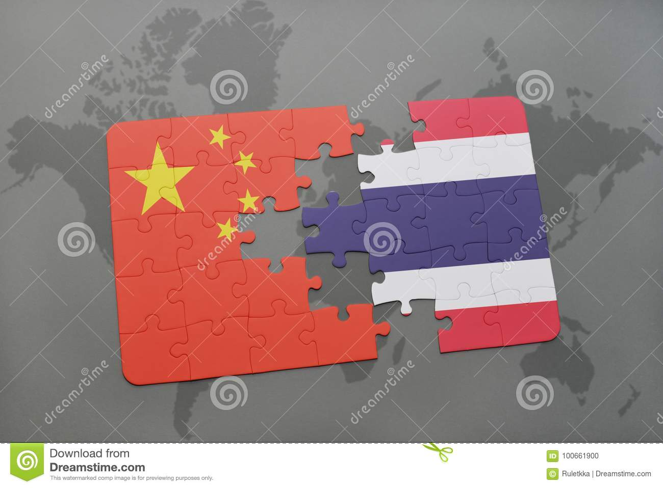 Puzzle with the national flag of china and thailand on a world map download puzzle with the national flag of china and thailand on a world map background gumiabroncs Gallery