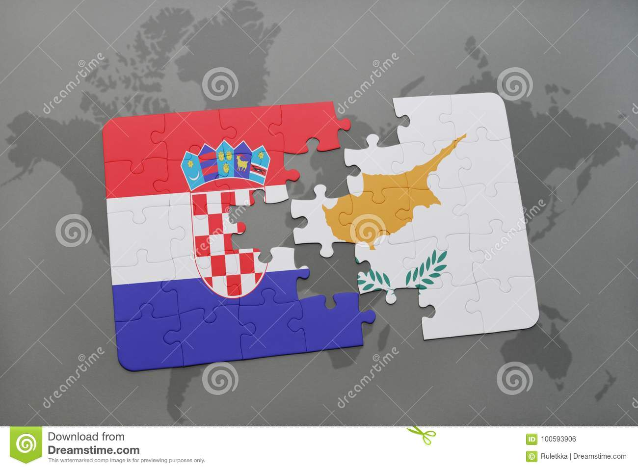 Puzzle with the national flag of croatia and cyprus on a world map download comp gumiabroncs Choice Image