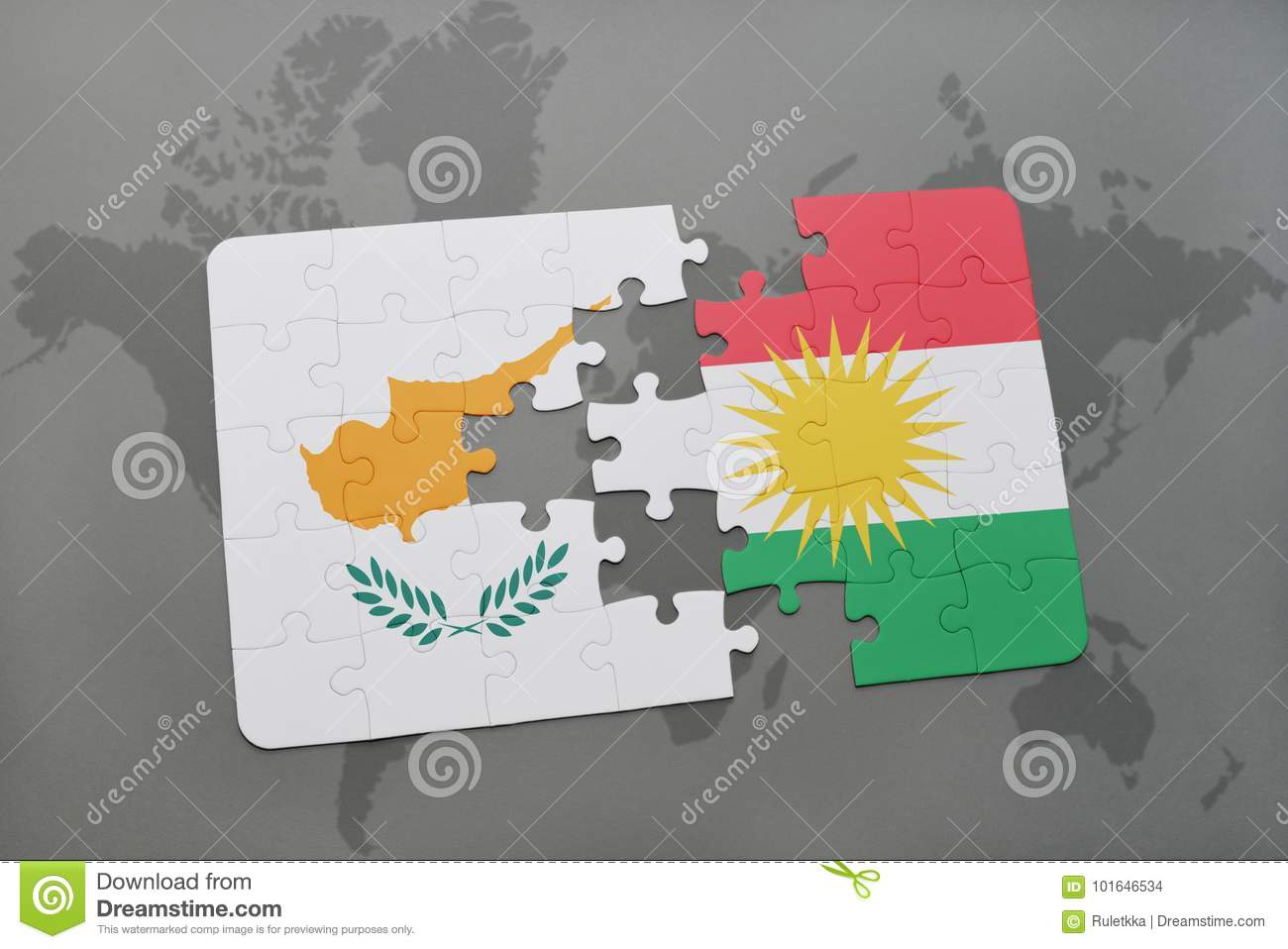Puzzle With The National Flag Of Cyprus And Kurdistan On A World Map on israel world map, turkey world map, nyc world map, scotland world map, balkans world map, lebanon world map, serbia world map, golan heights world map, mali world map, germany world map, rwanda world map, gaza on world map, south ossetia world map, palestine world map, george world map, kobani world map, taiwan world map, iceland world map, kazakhstan world map, chad world map,