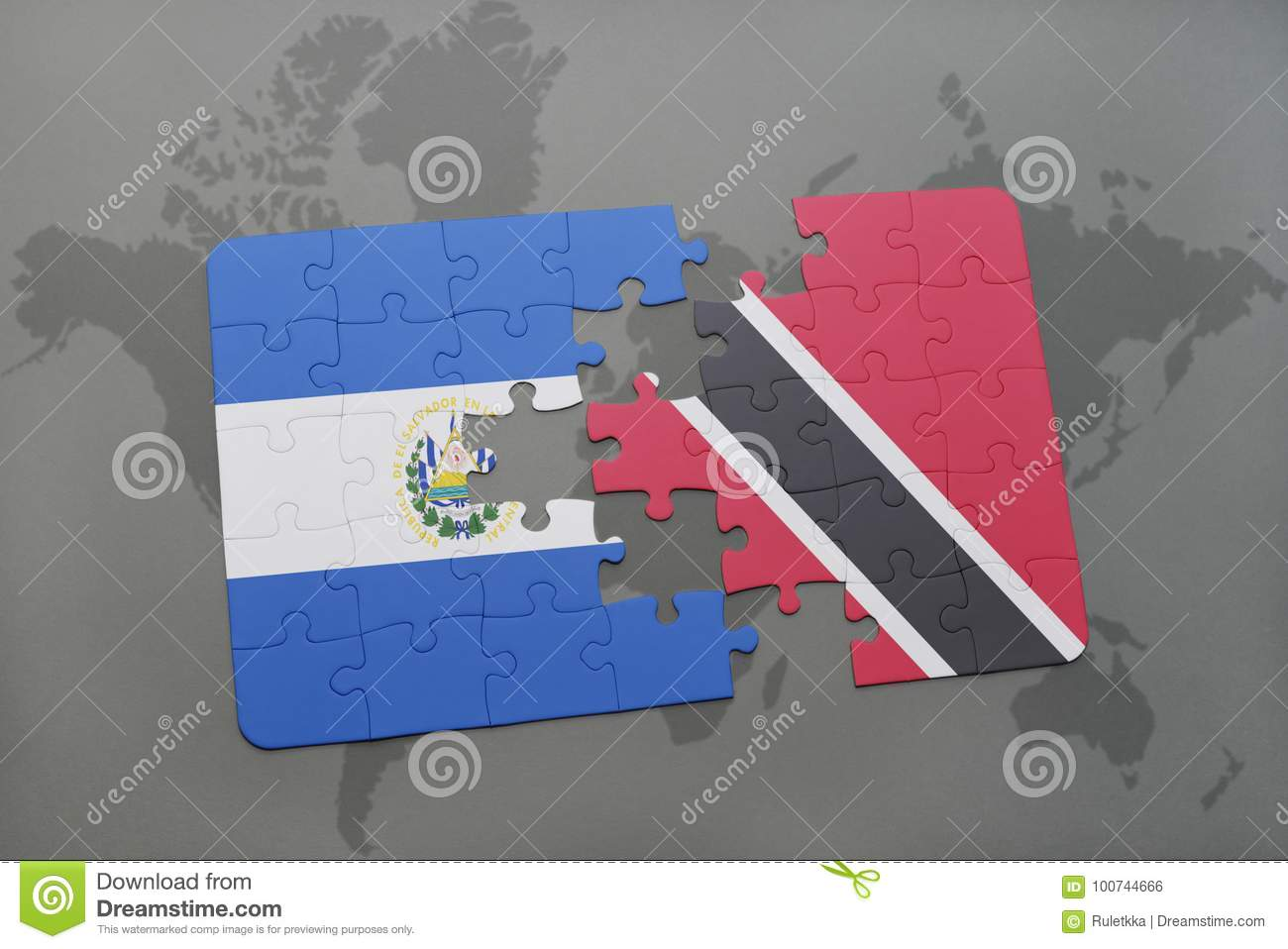 Puzzle with the national flag of el salvador and trinidad and tobago download puzzle with the national flag of el salvador and trinidad and tobago on a world gumiabroncs Gallery