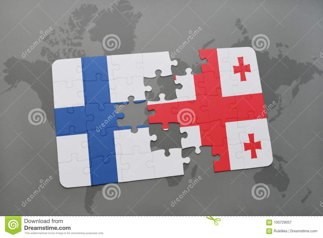 Puzzle with the national flag of finland and georgia on a world map download puzzle with the national flag of finland and georgia on a world map background gumiabroncs Images