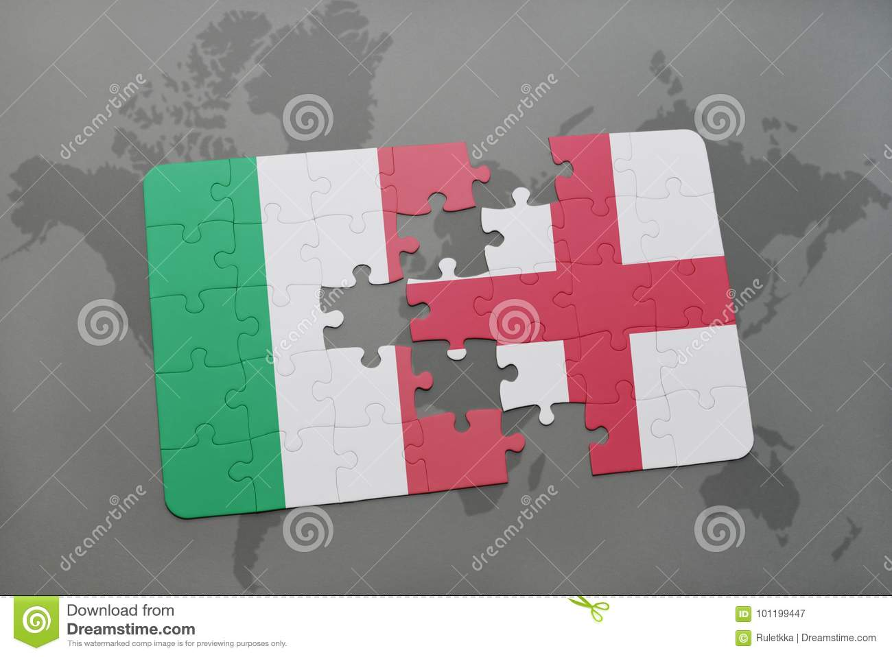 Puzzle with the national flag of italy and england on a world map download puzzle with the national flag of italy and england on a world map background gumiabroncs Choice Image