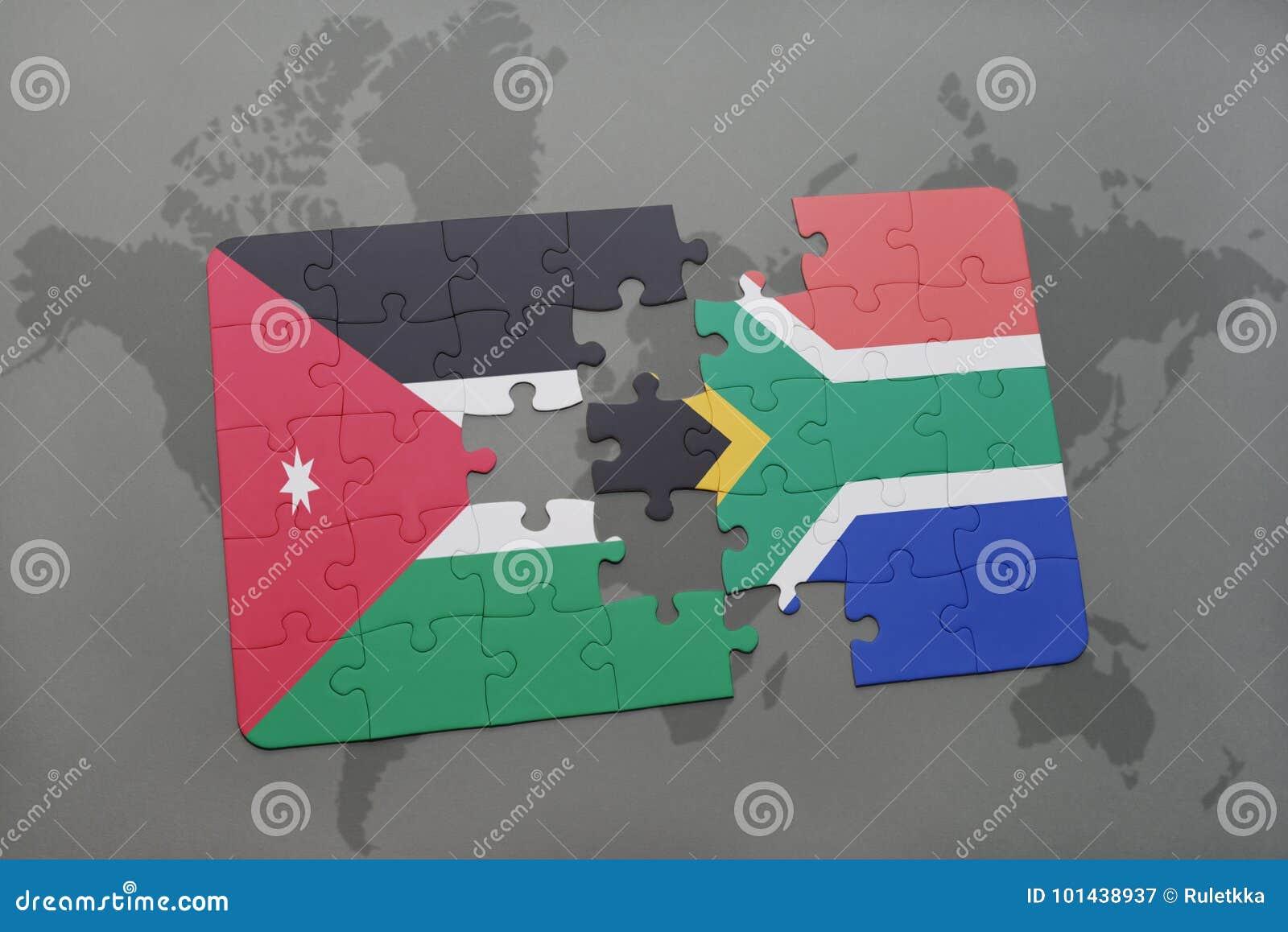 jordan south africa map