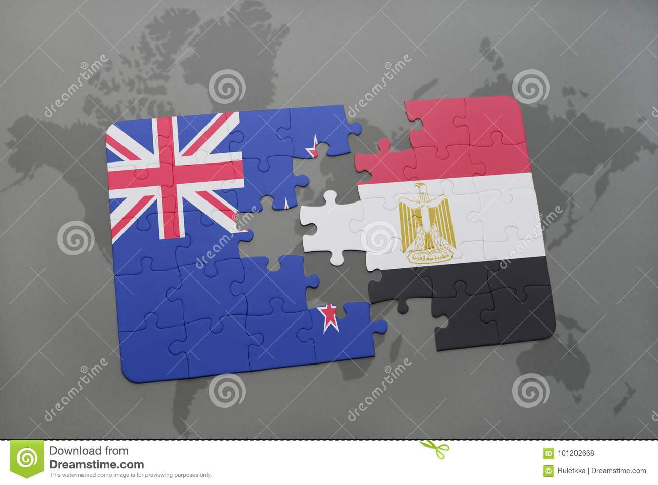 Puzzle with the national flag of new zealand and egypt on a world download comp gumiabroncs Image collections
