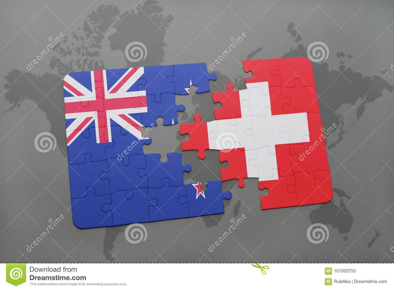 Puzzle with the national flag of new zealand and switzerland on a royalty free stock photo gumiabroncs Image collections