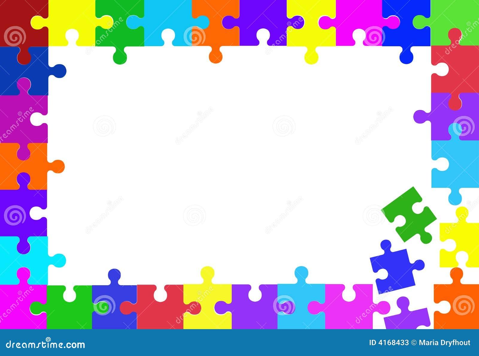 Jigsaw puzzle piece frame stock illustration image of - Puzzles decorativos ...