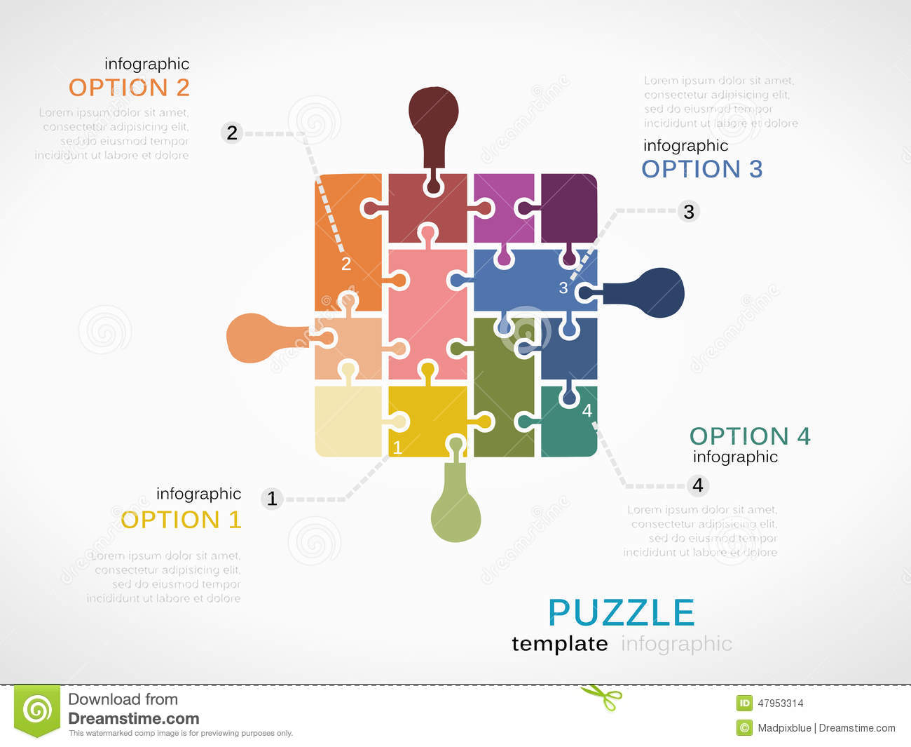 Puzzle piece inforgraphics stock vector. Illustration of jigsaw ...