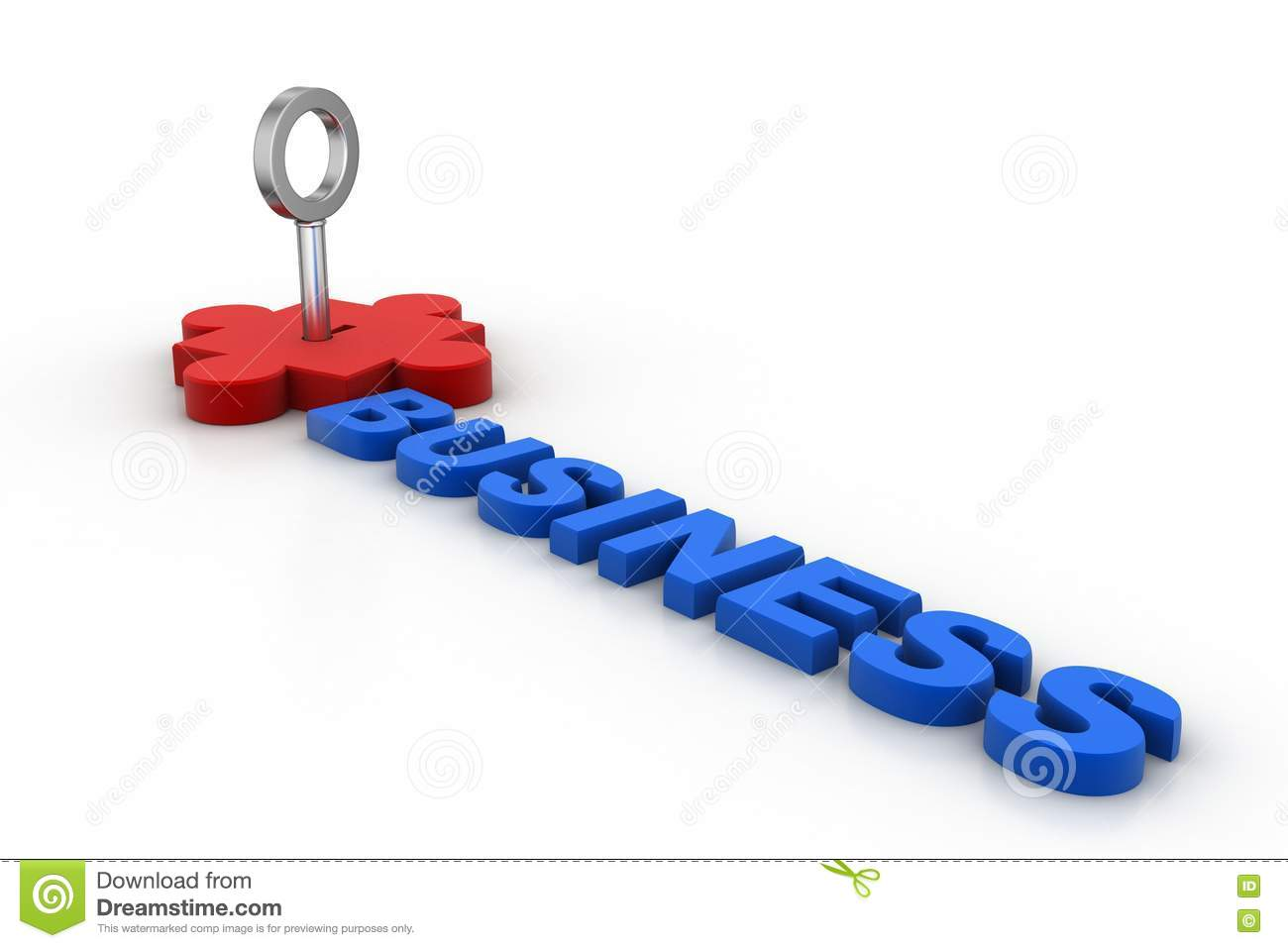 Puzzle Piece With Key, Business Concept Stock Illustration ...
