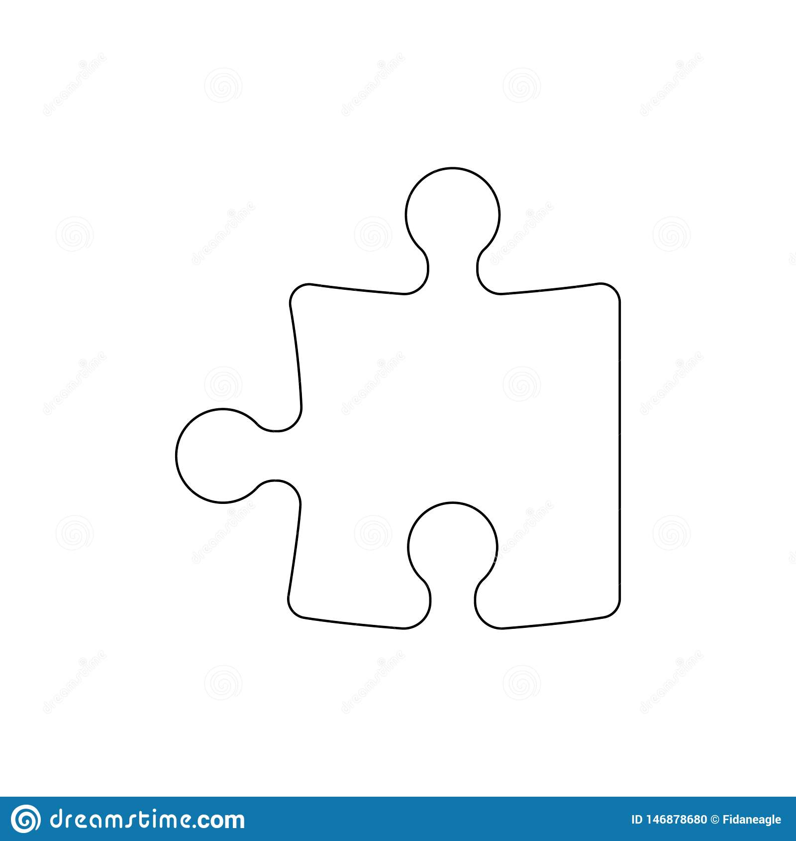 Puzzle piece outline icon. Signs and symbols can be used for web, logo, mobile app, UI, UX