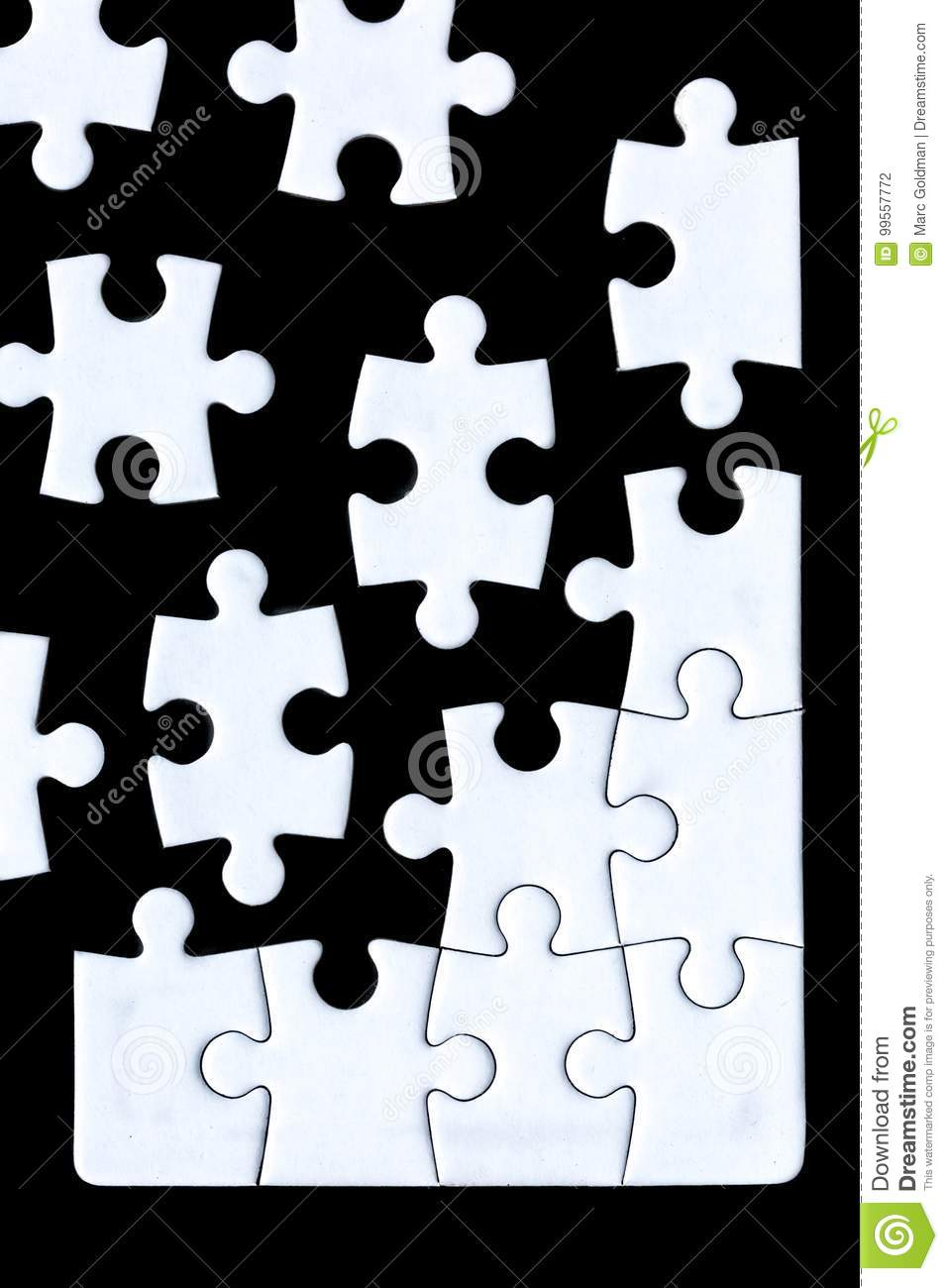 Puzzle pieces coming together