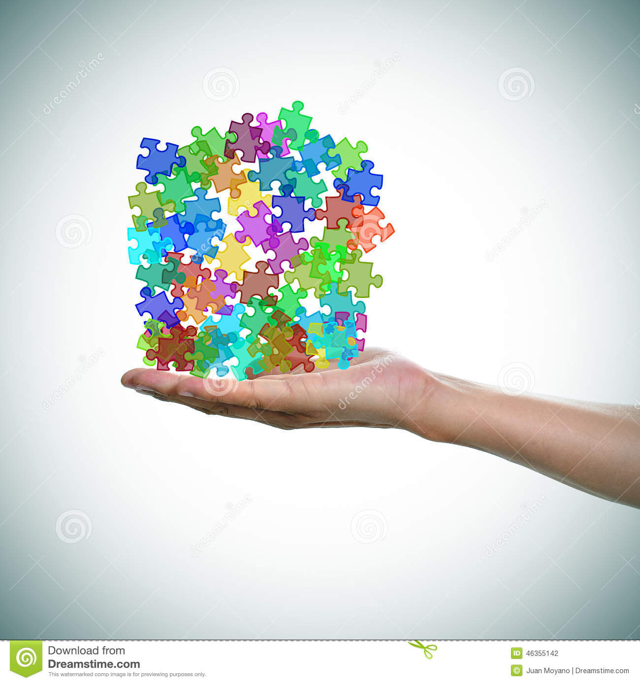 Puzzle Pieces Of Different Colors As The Symbol For The Autism A