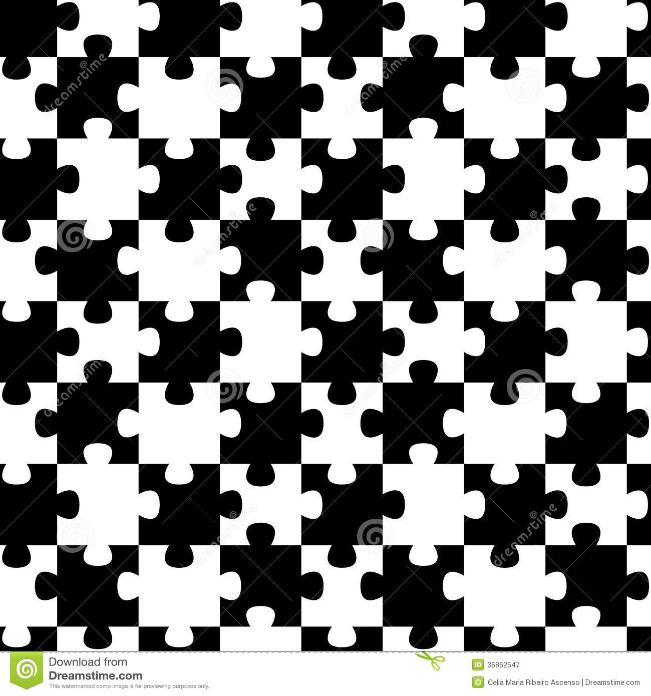 Jigsaw Puzzle Pieces Seamless Background Pattern Royalty-Free Stock ...