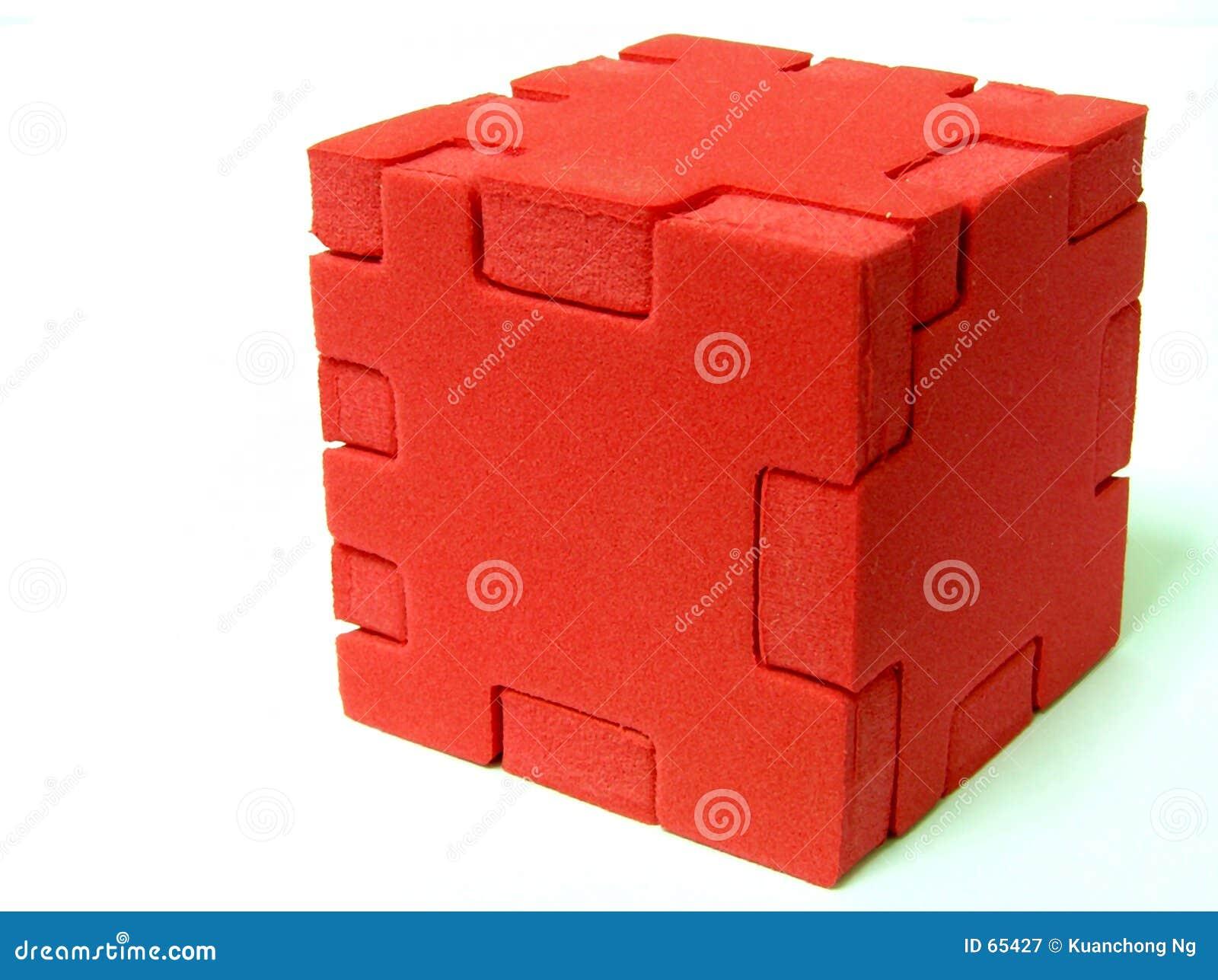 Download Puzzle - ROUGE image stock. Image du contour, pièce, programme - 65427