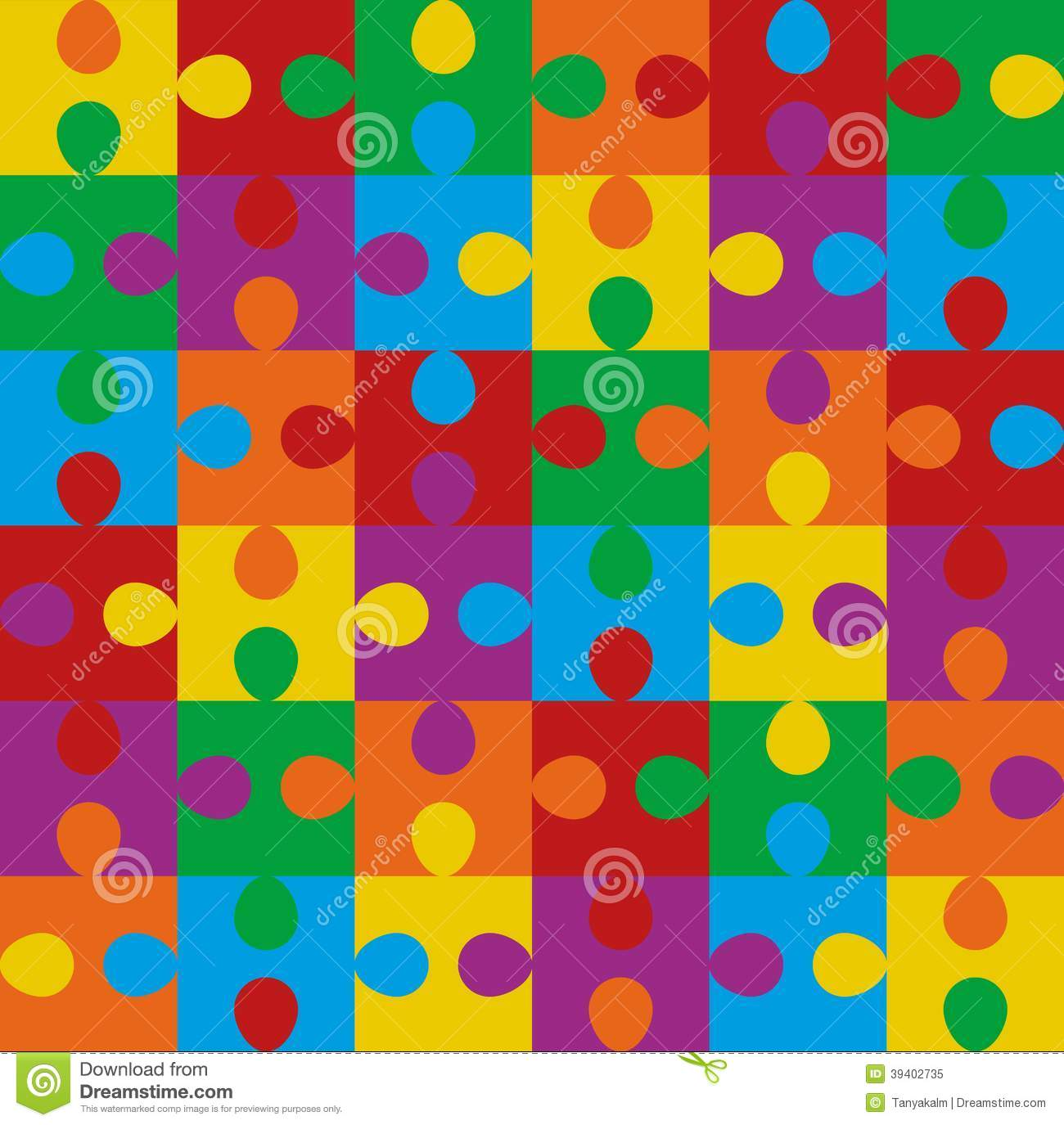 Puzzle Seamless Pattern Stock Vector - Image: 39402735