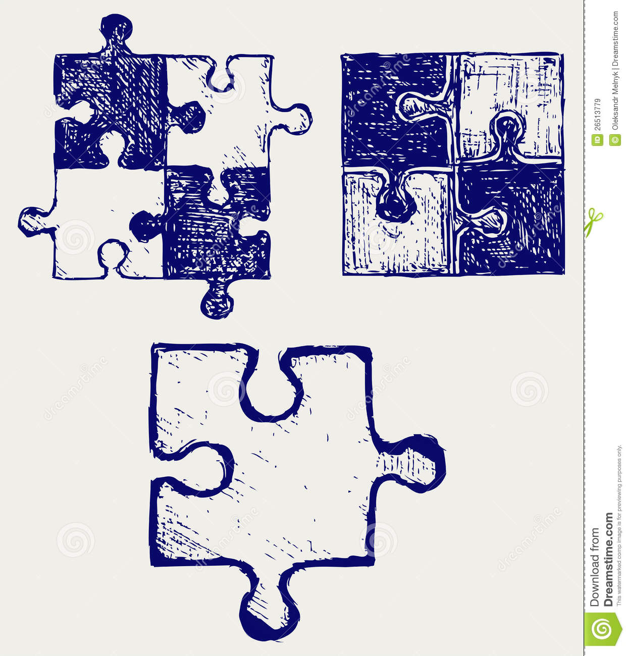 Scribble Drawing Crossword Clue : Puzzle sketch stock vector image of icon efficient