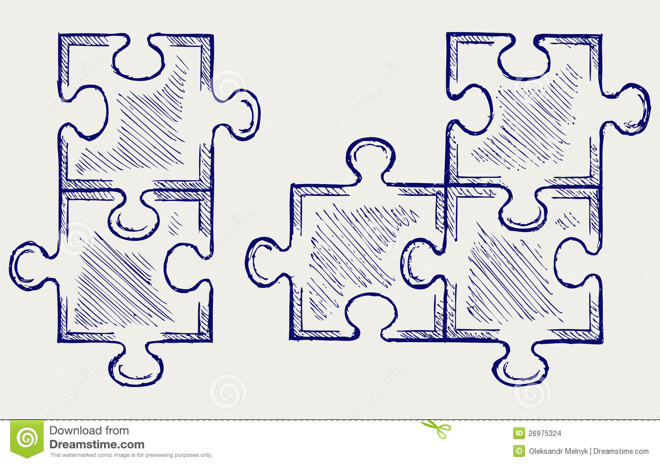Scribble Drawing Crossword Clue : Puzzle sketch stock images image