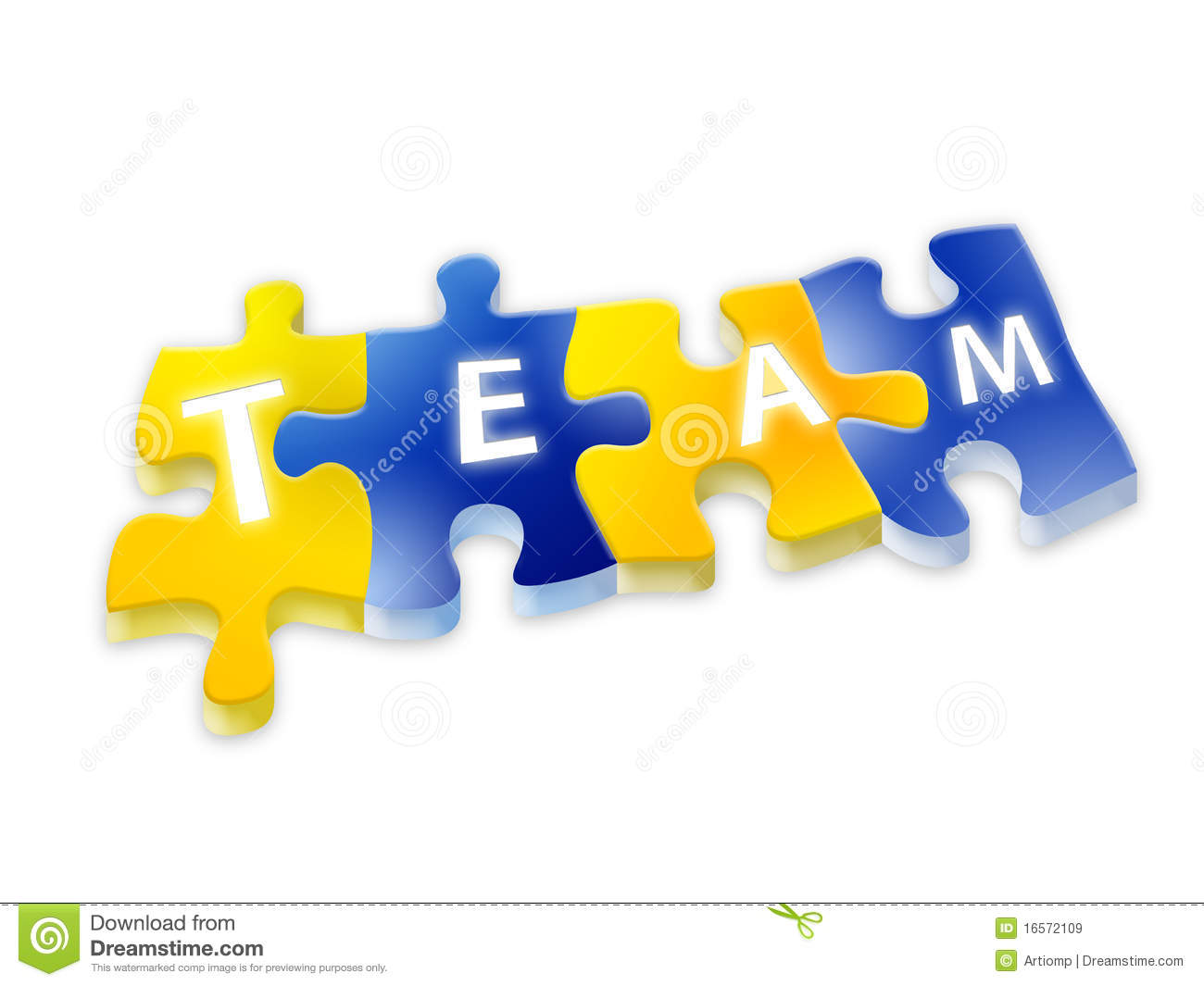 Puzzle with team text