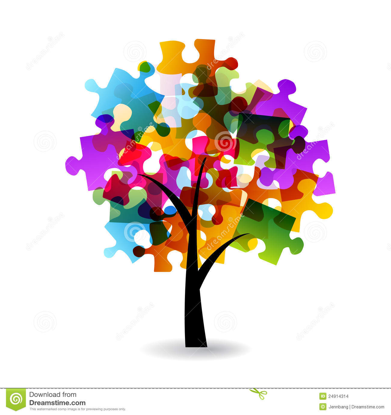 puzzle tree stock images image 24914314 puzzle piece clip art for powerpoint puzzle piece clip art free