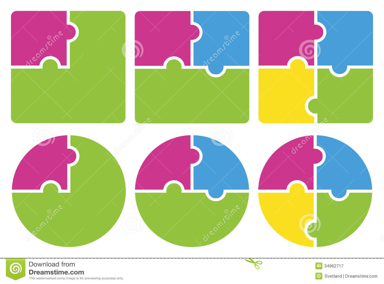 Puzzle vector illustration stock vector illustration - Puzzle dessin ...
