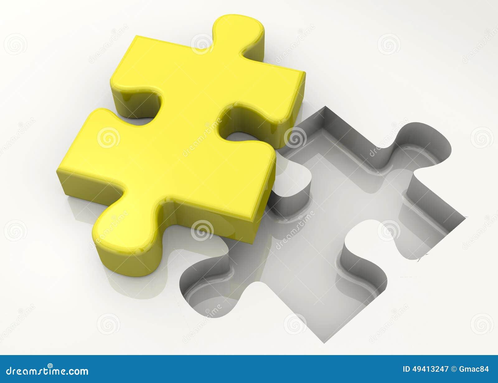 Download Puzzlespiel - 3D stock abbildung. Illustration von spiel - 49413247