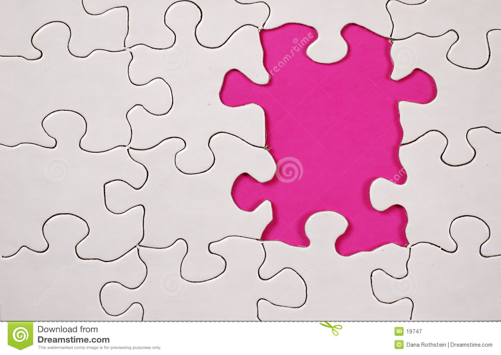 Puzzlespiel mit rosafarbenem Hintergrund