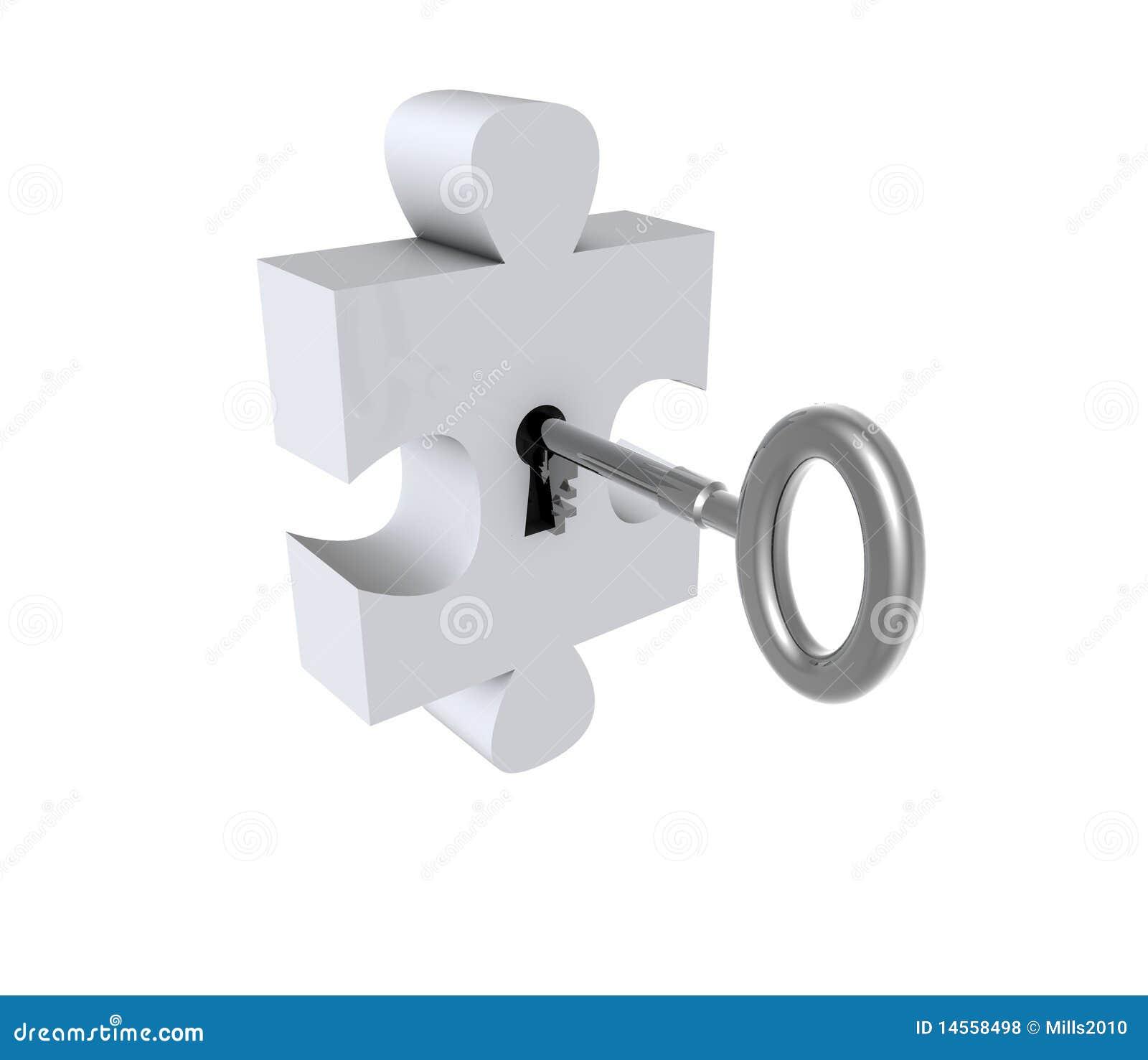 Puzzlespiel mit Taste