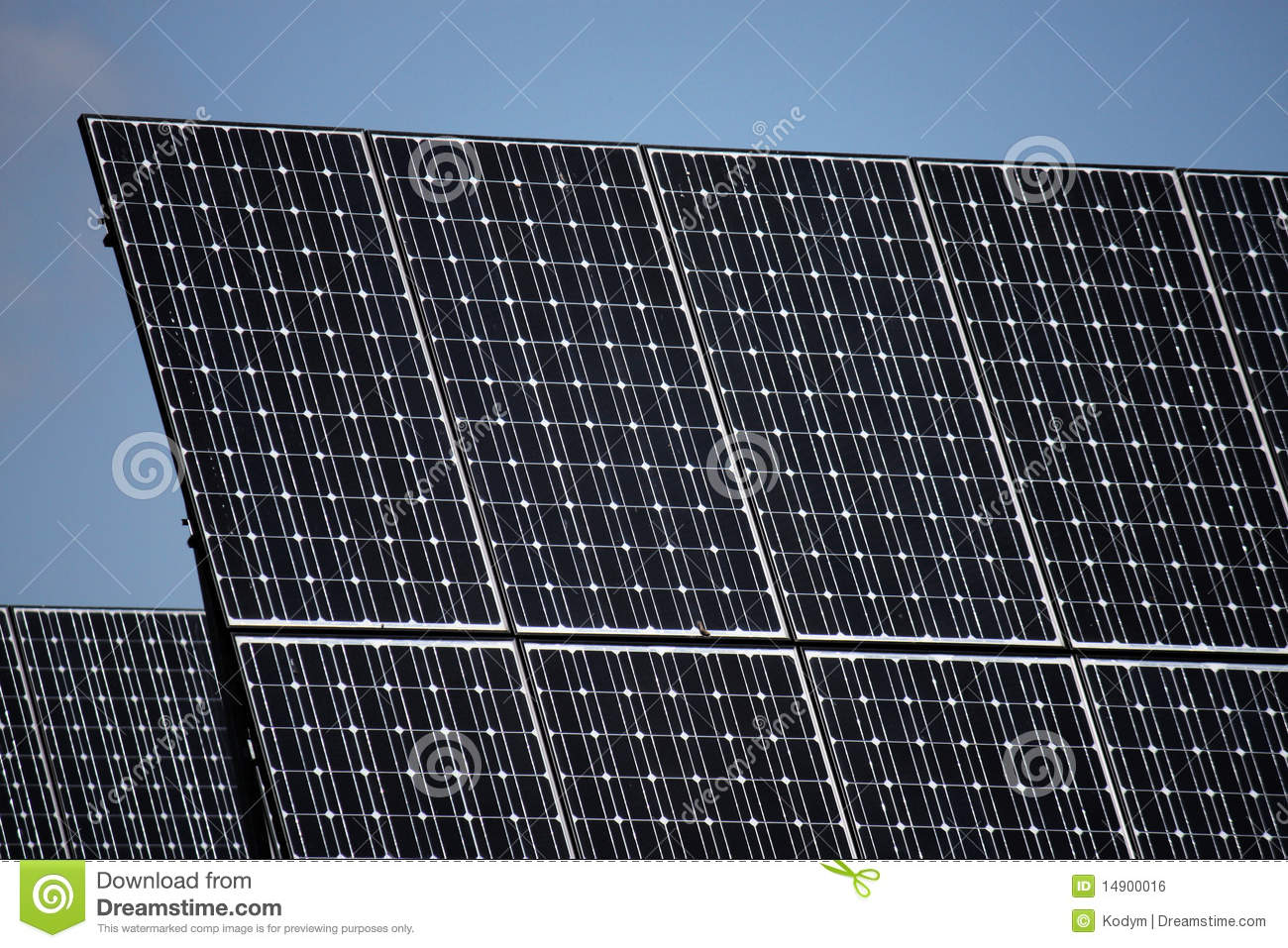 Pv Solar Panels Under Sky Royalty Free Stock Image Image