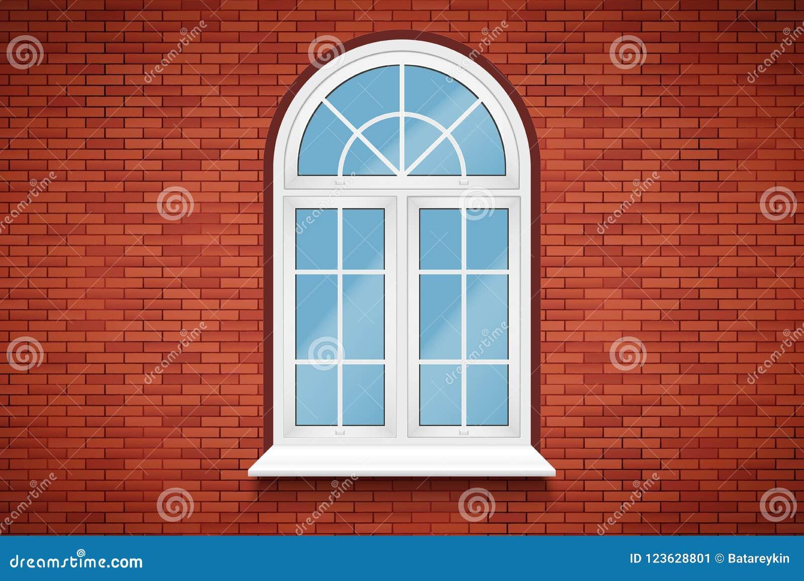 Ventanas Pvc Stock.Pvc Arch Window Stock Vector Illustration Of Double 123628801