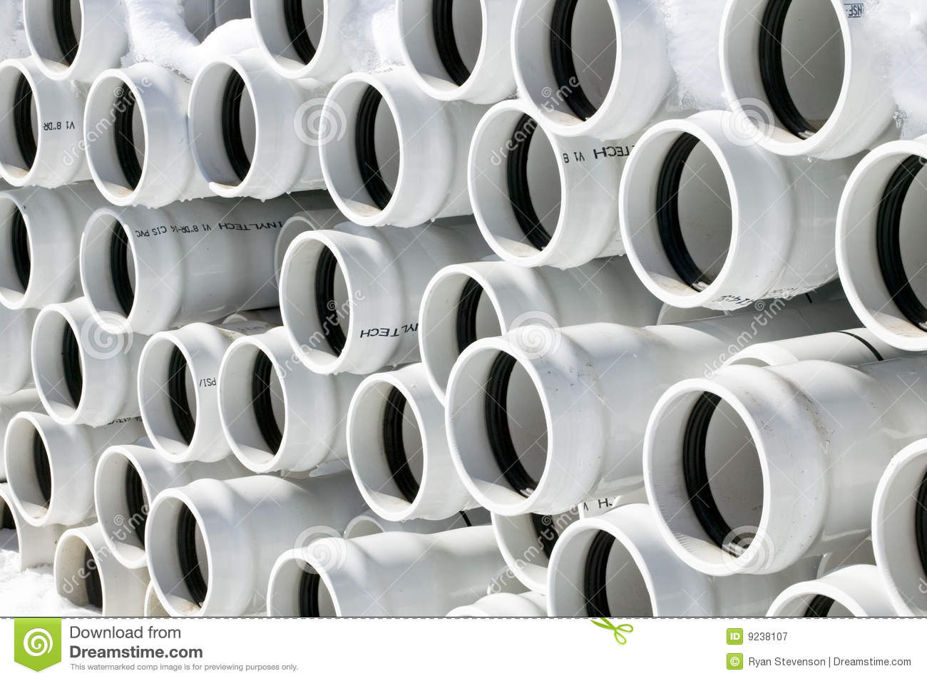PVC Pipe Stock Image. Image Of Plastic, Multiple, Stacked