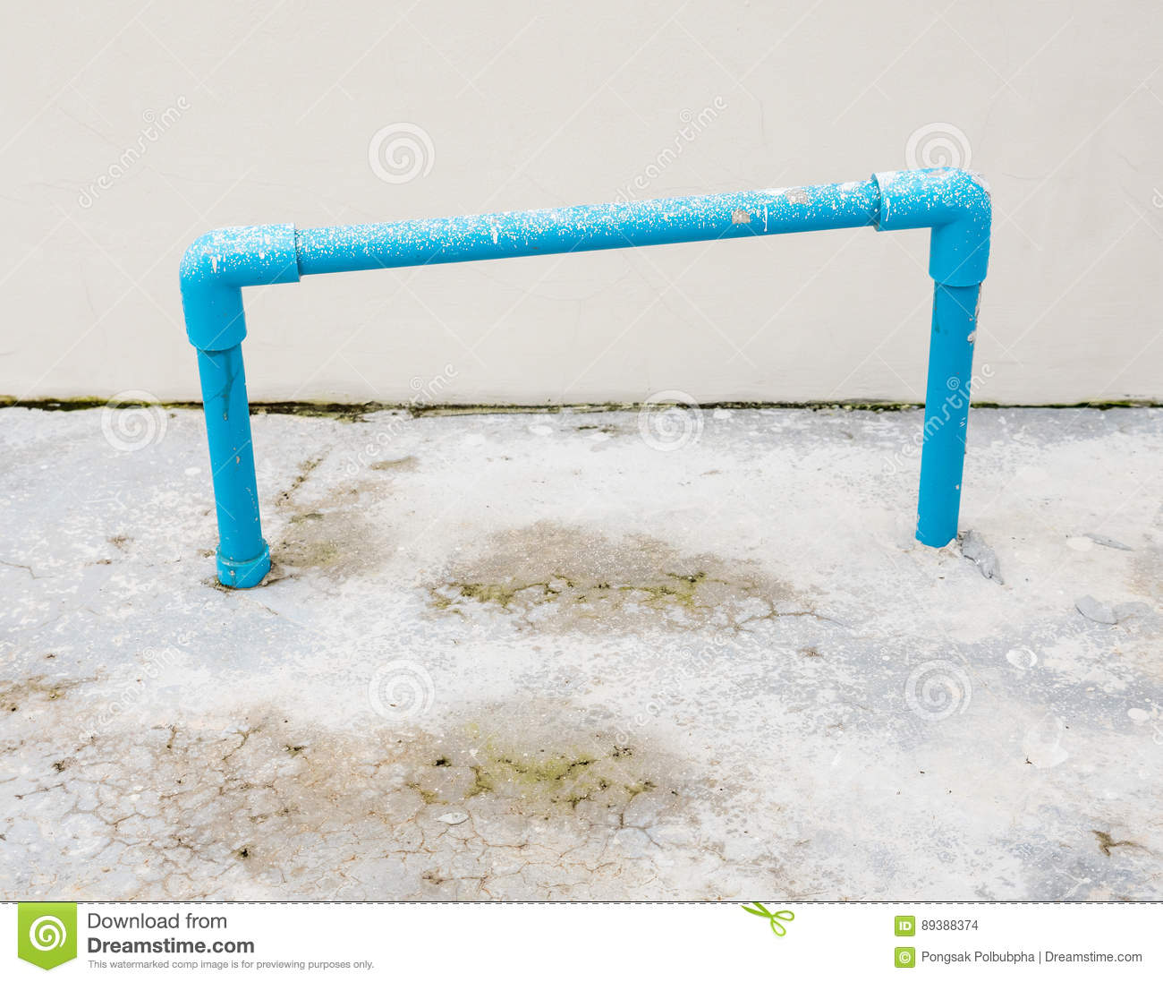 PVC pipe frame. stock photo. Image of industry, equipment - 89388374