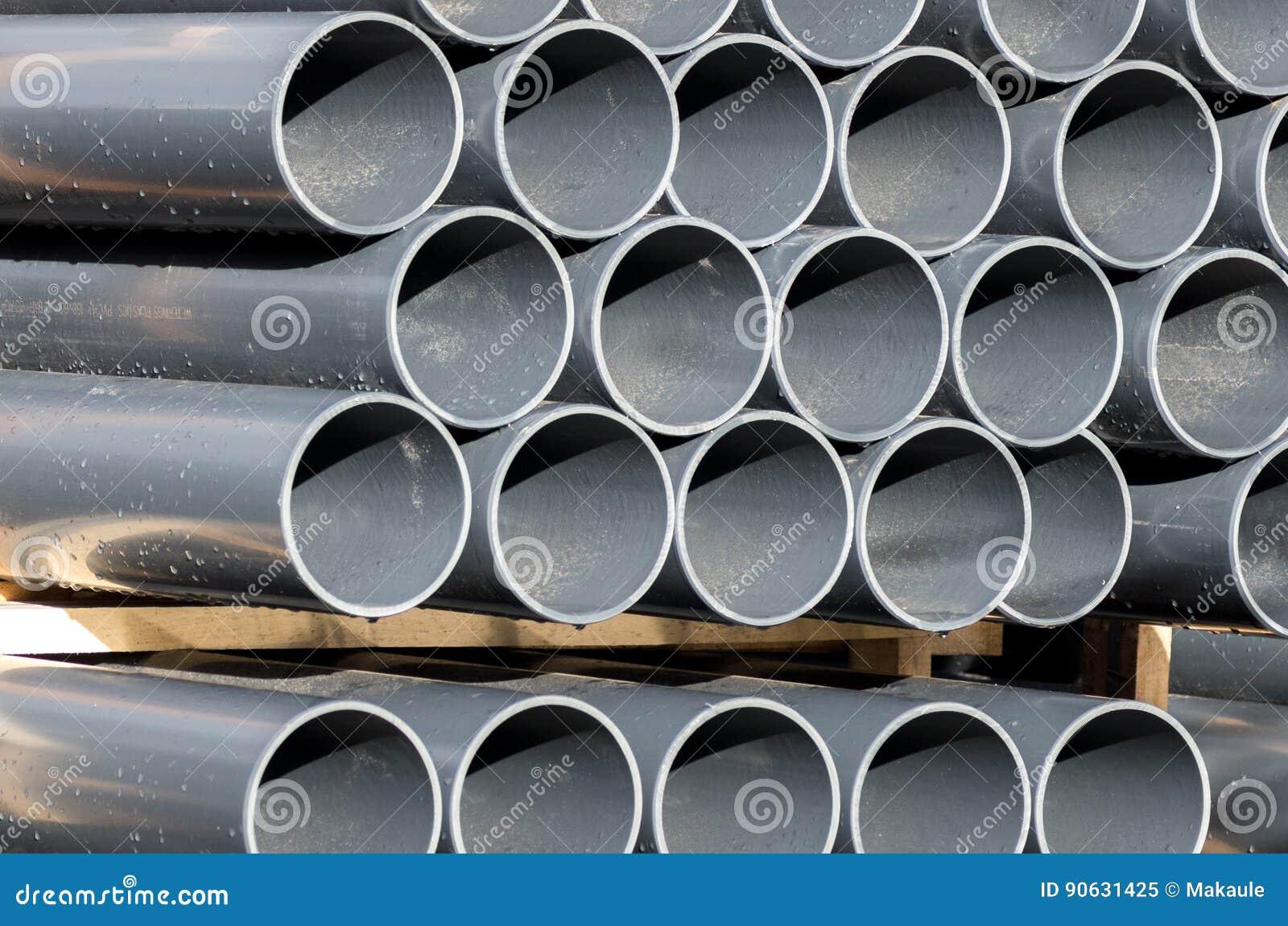 PVC Pipe Gray Royalty-Free Stock Photo