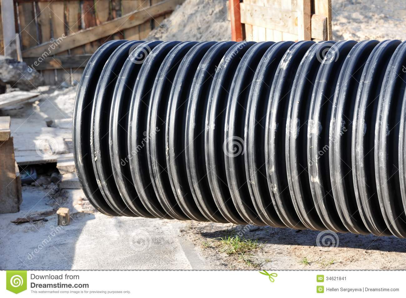 Pvc pipe stock image