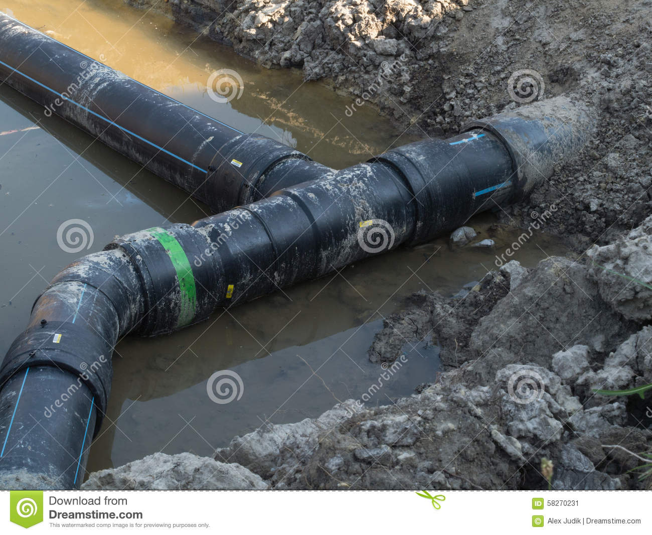 Pvc pipe stock photo image 58270231 for Best water pipe for outside