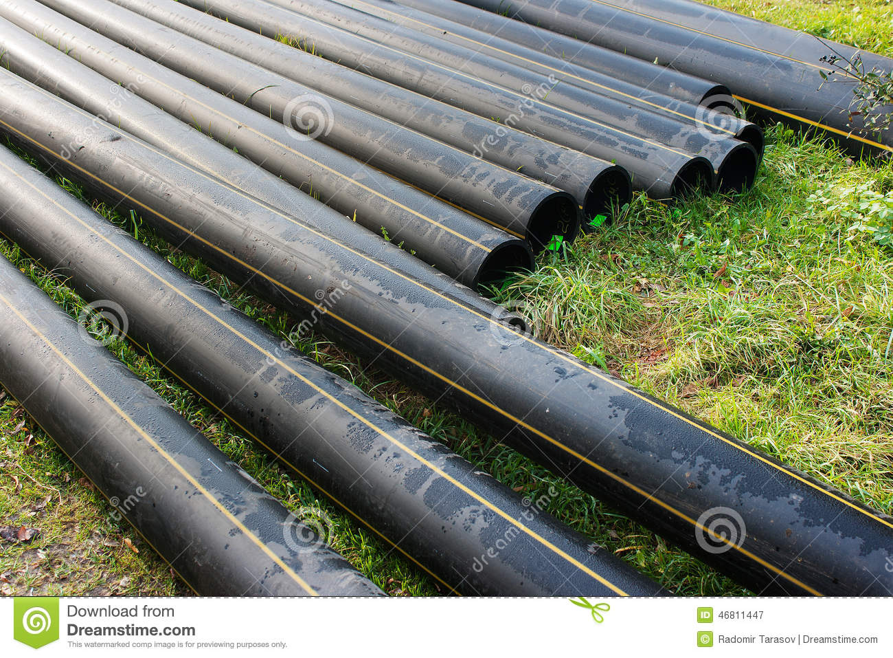 Scroll Of Plastic Sewer Pipe Royalty-Free Stock