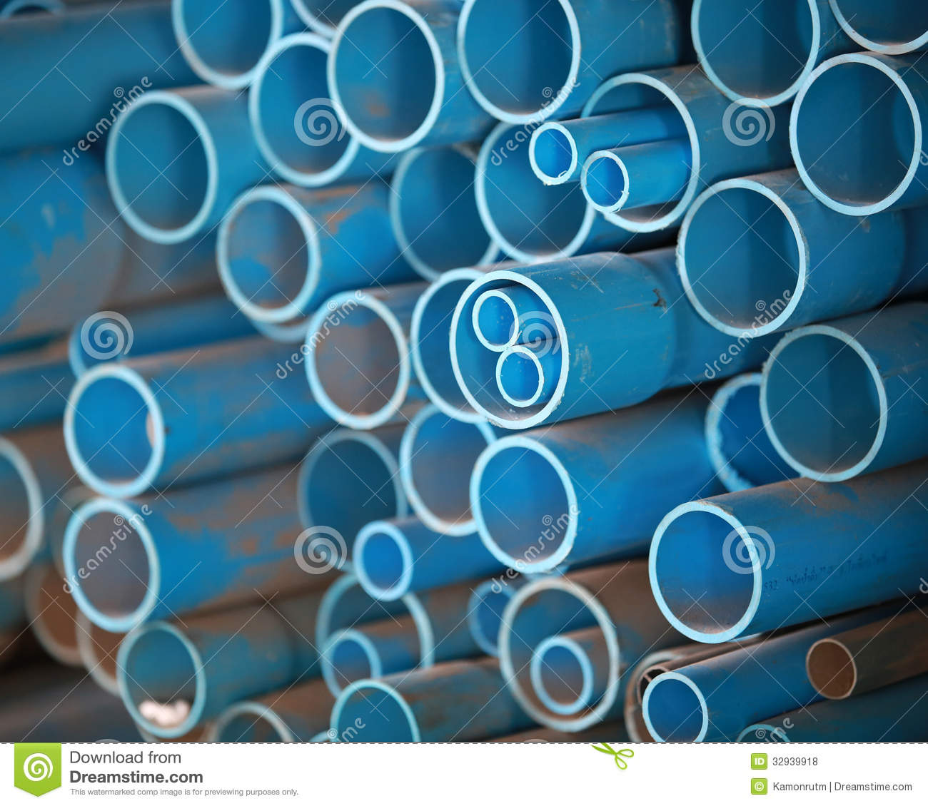 PVC pipes in store