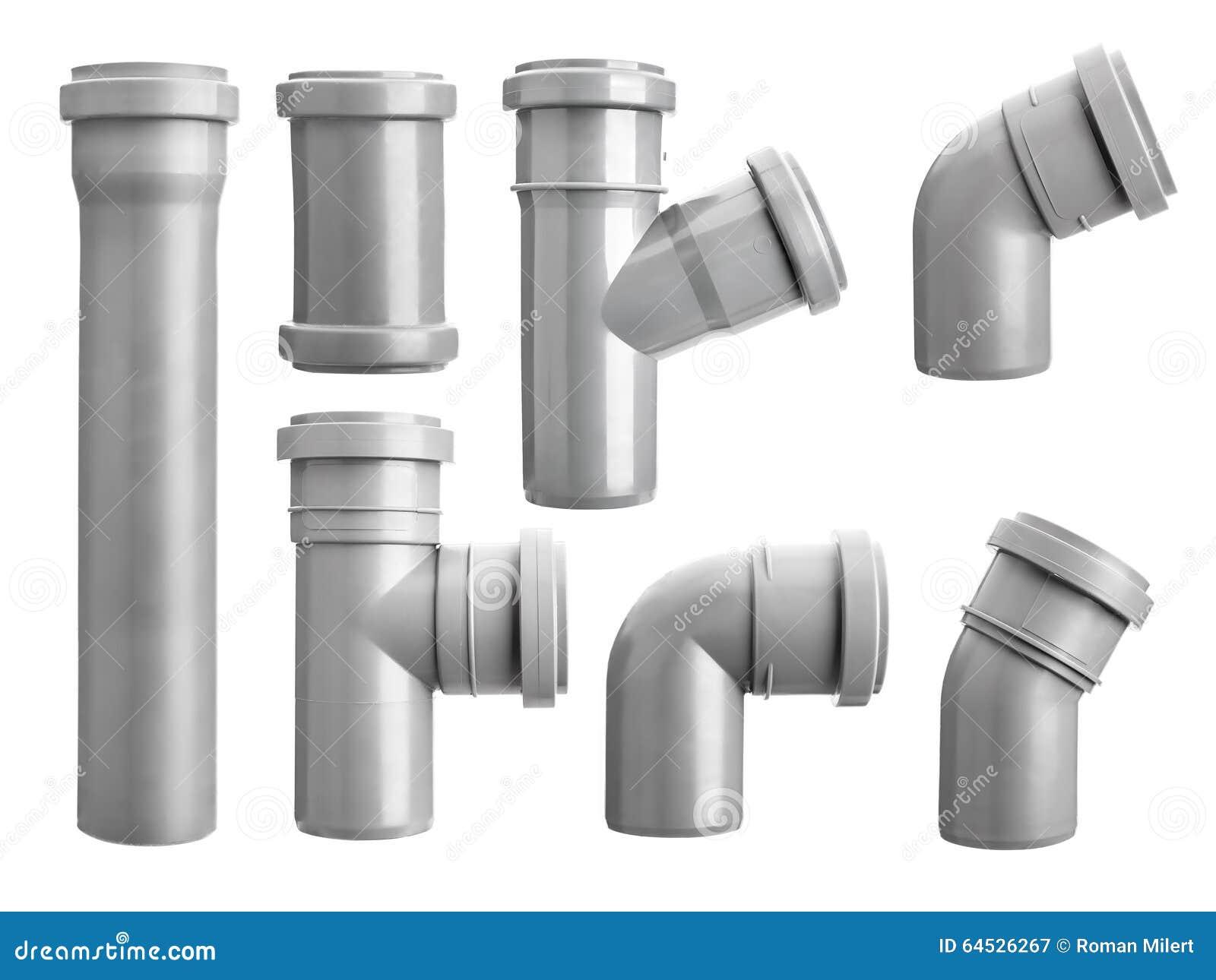 PVC Sewage Pipe Fittings Stock Image. Image Of Gray, Sewer