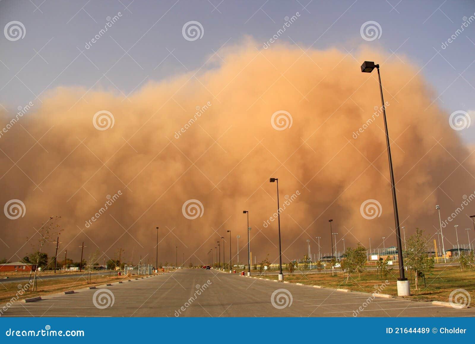 Pyłu haboob burza lub