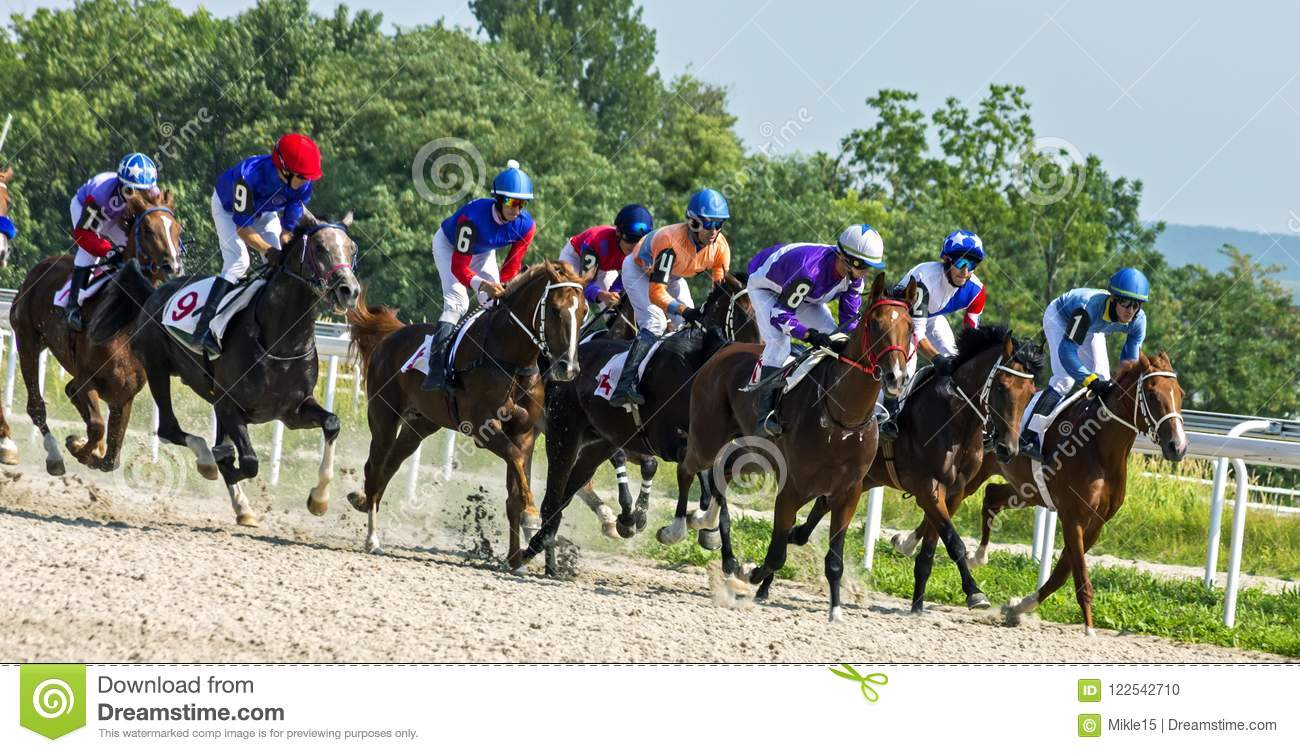 Horse racing for the prize of Derby in Pyatigorsk.