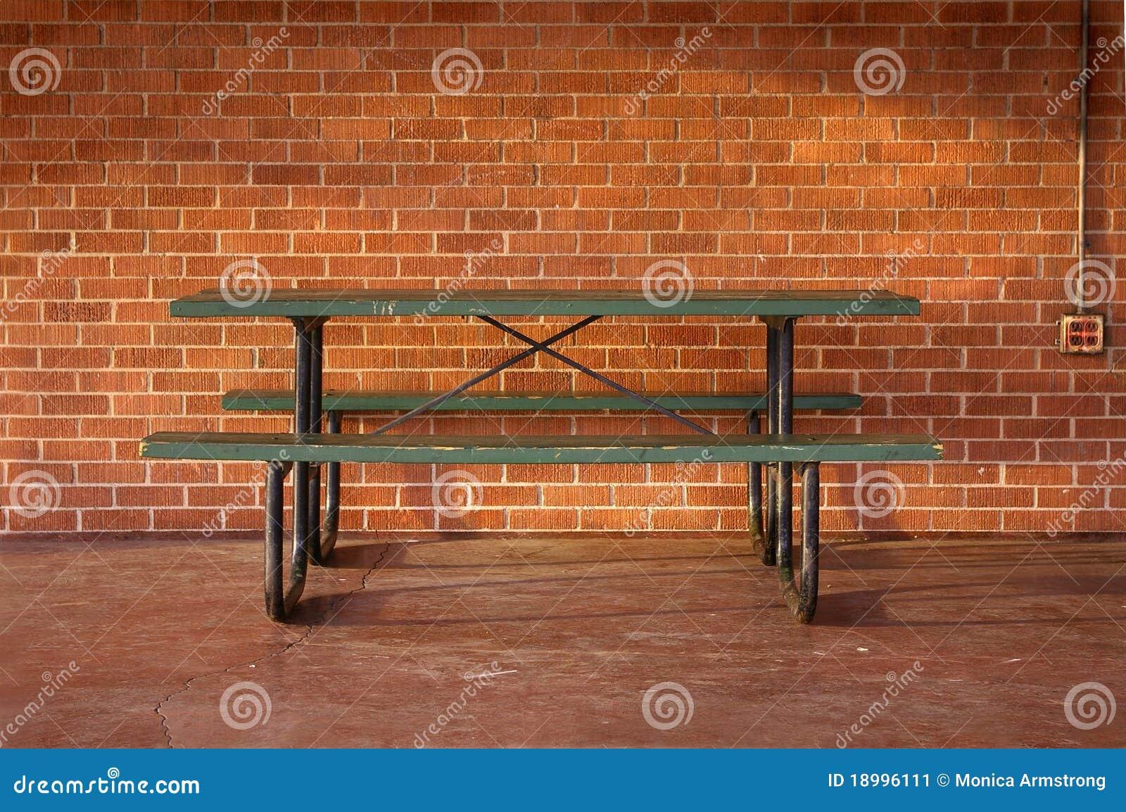 Pyknicznego stołu miejsce pracy