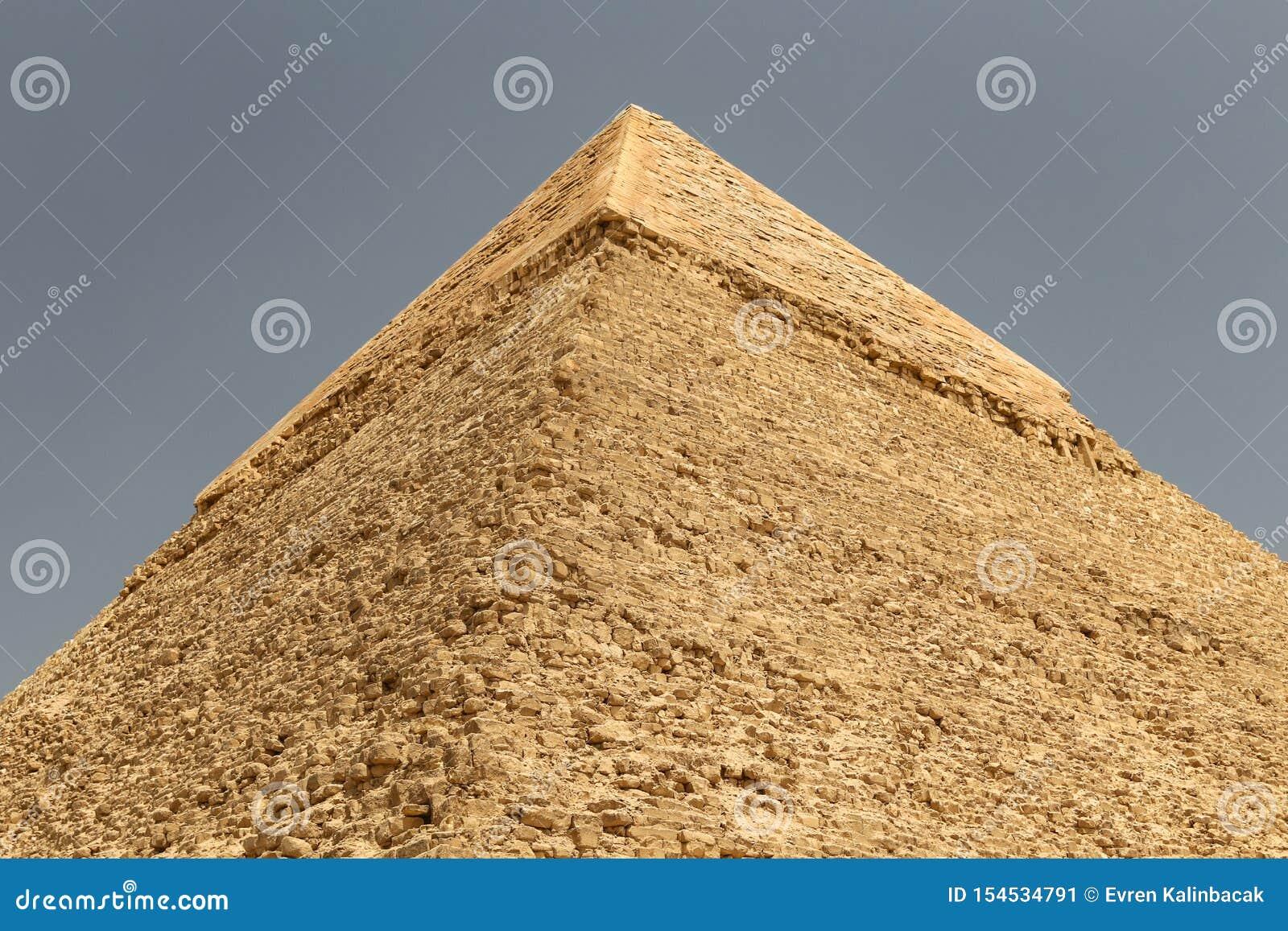 Pyramid av Khafre i det Giza pyramidkomplexet, Kairo, Egypten