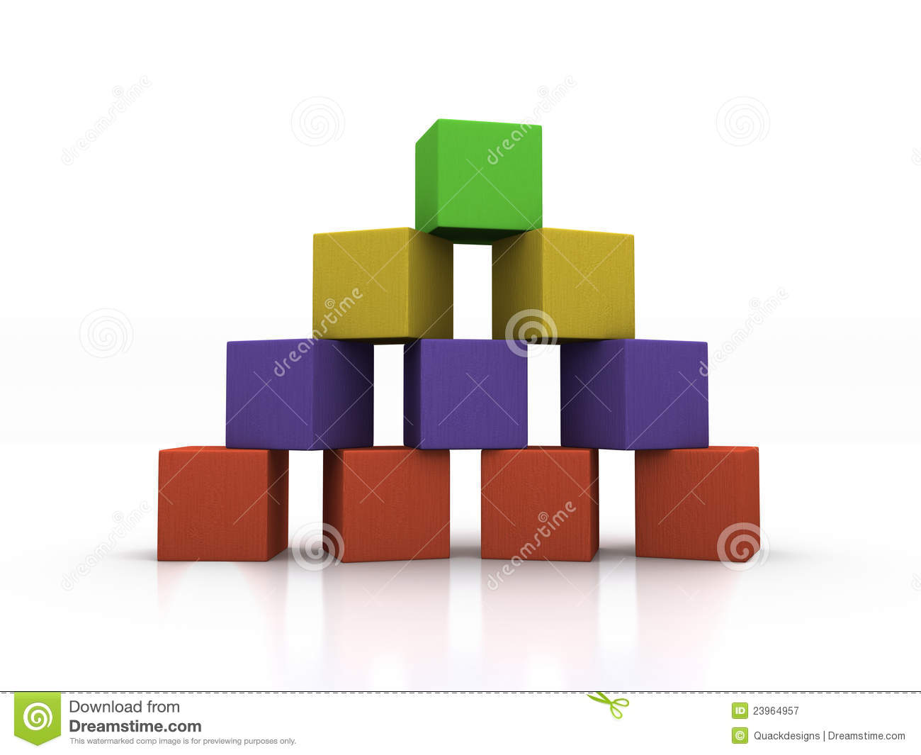 Pyramid Of Blocks Royalty Free Stock Photography - Image ...