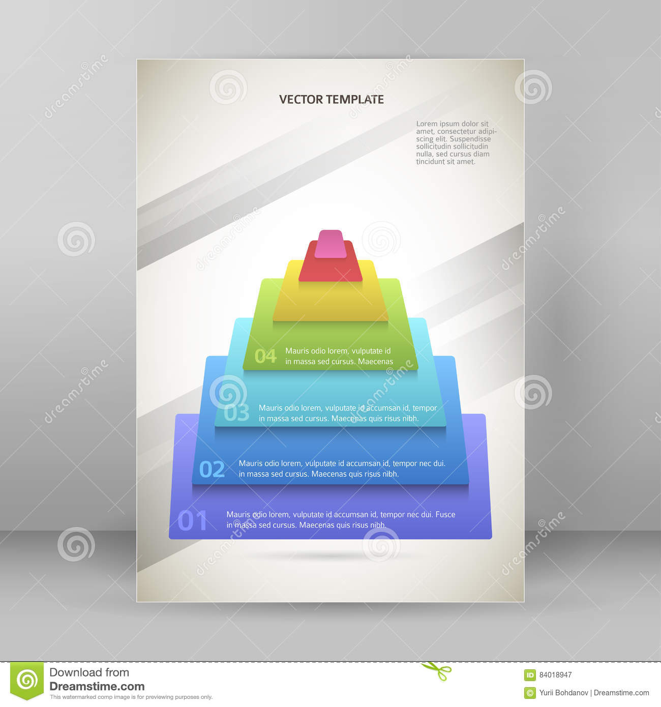 pyramid business style infographics report presentation template, Presentation Pyramid Template, Presentation templates