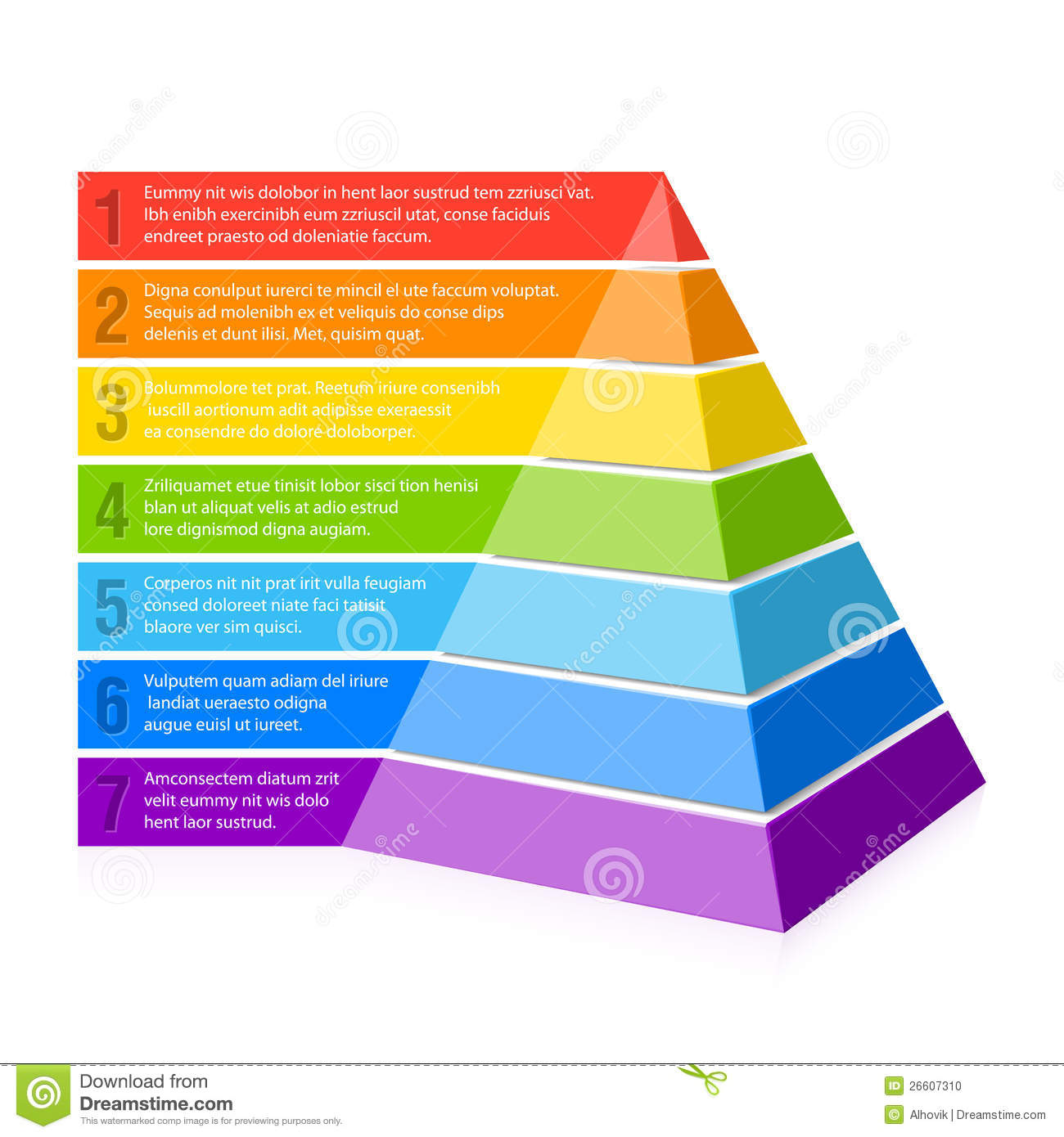 Pyramid chart stock vector image of performance rainbow Table financiere