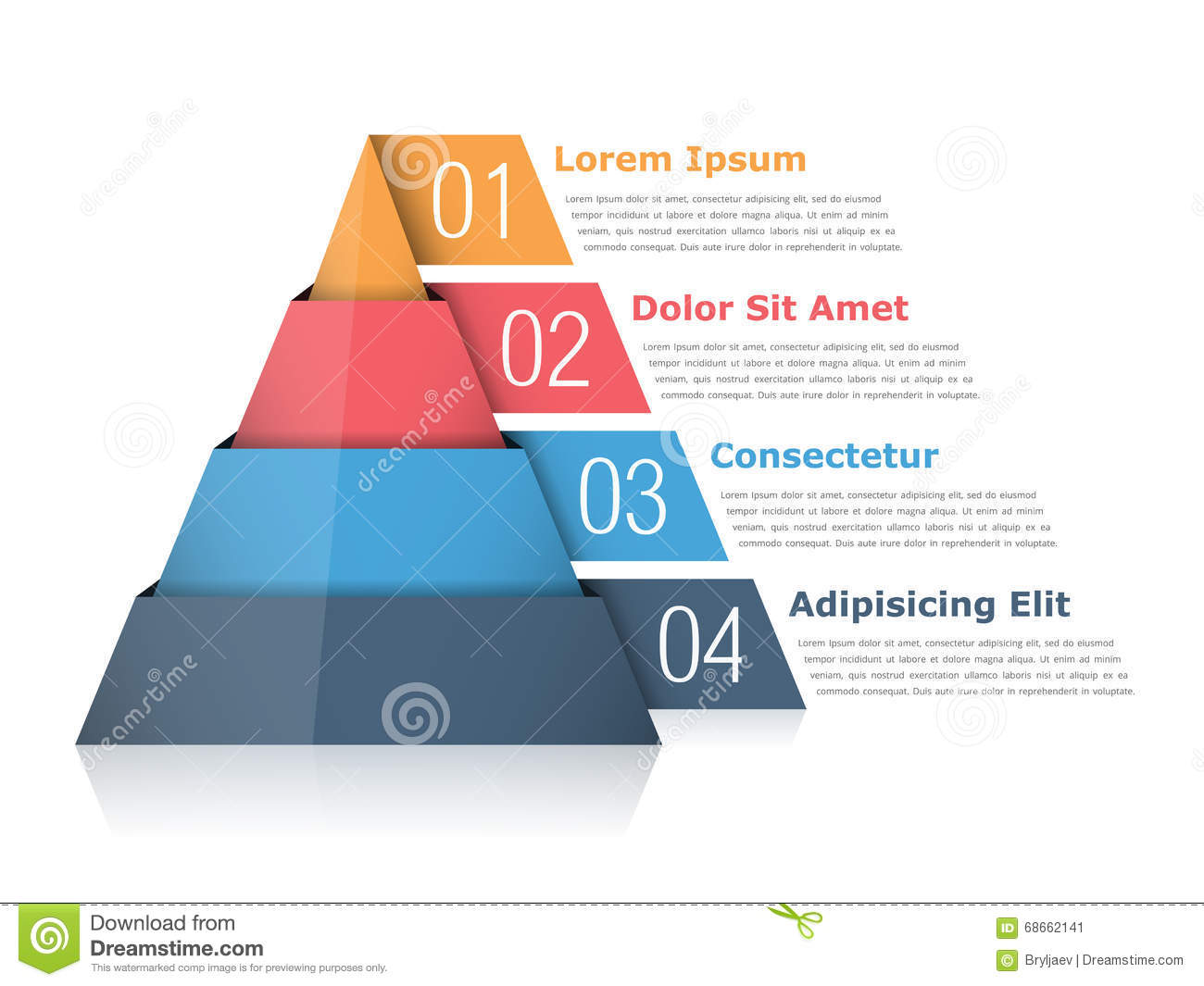 Pyramid Chart Stock Vector  Image Of Graphic  Background