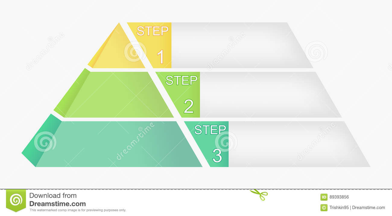 Pyramid Chart With Four Elements Numbers And Text Diagram Template Infographic