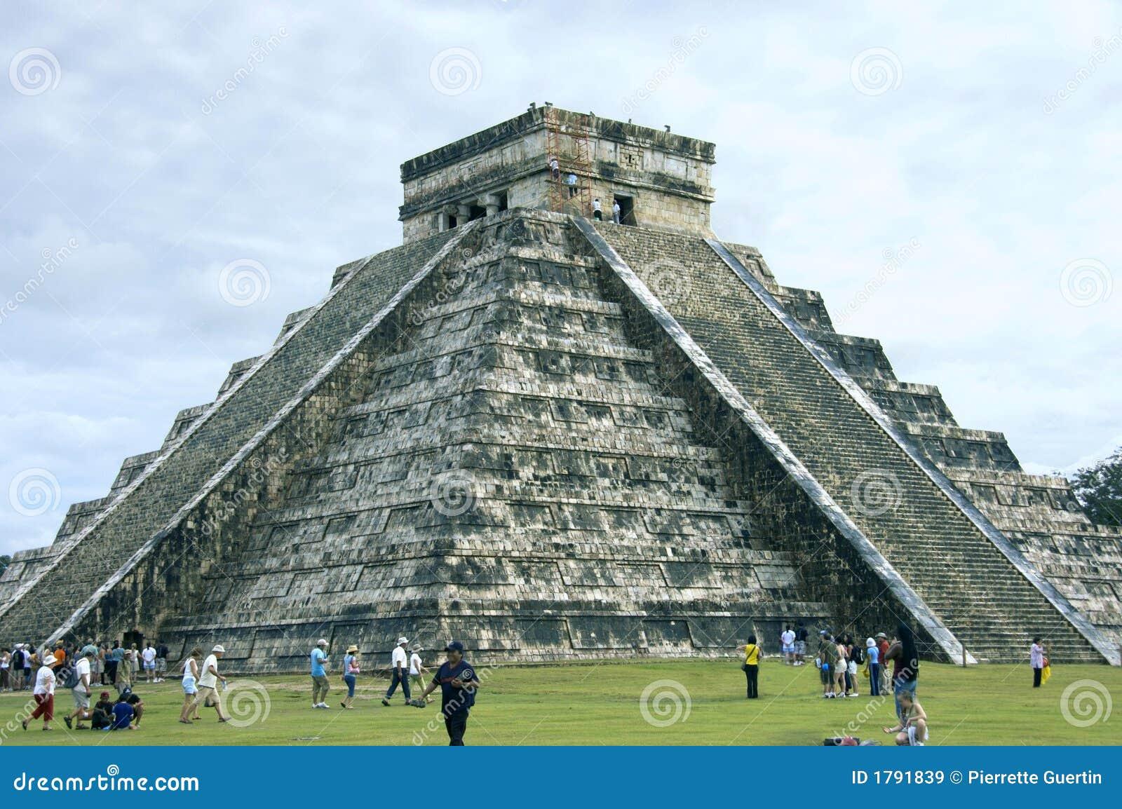 Pyramid Chichen Itza side view