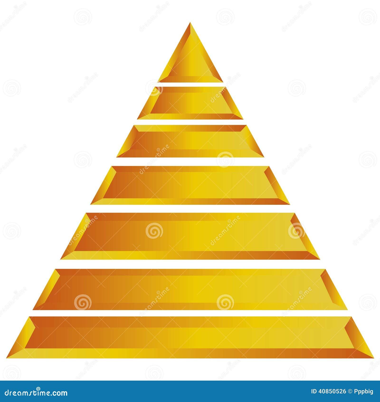Pyramid diagram stock illustration illustration of progress 40850526 gold pyramid diagram for presentation template ccuart Images