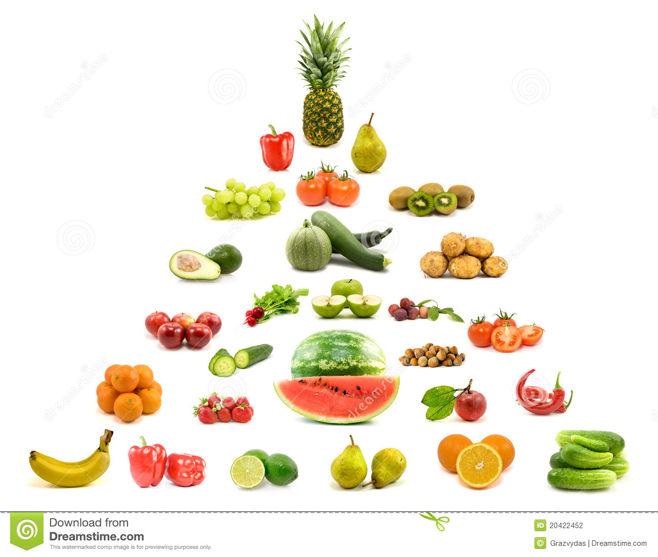 pyramid of fruits and vegetables stock photography image 20422452. Black Bedroom Furniture Sets. Home Design Ideas