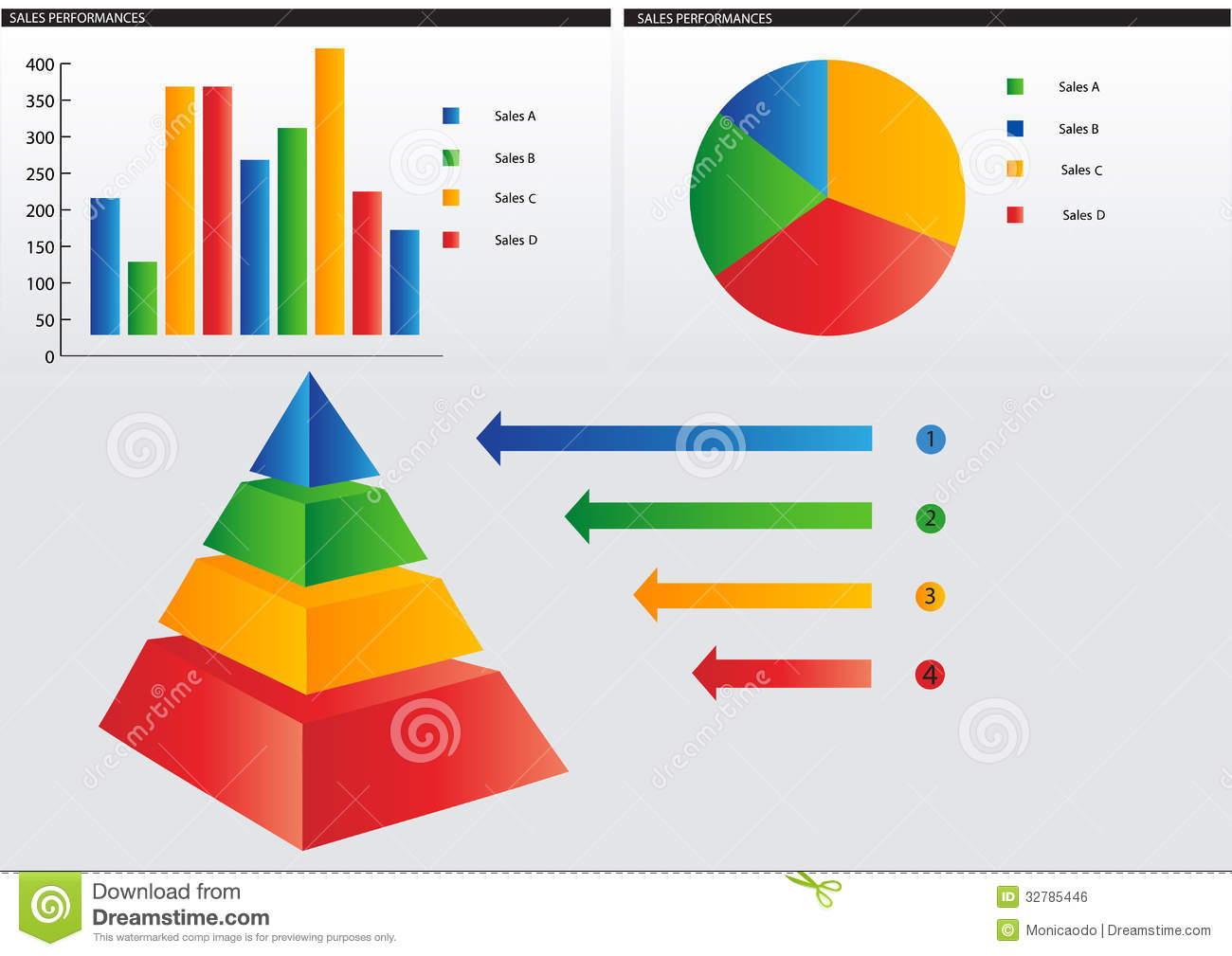 Pyramid graph stock vector illustration of modern for Grafica 3d gratis