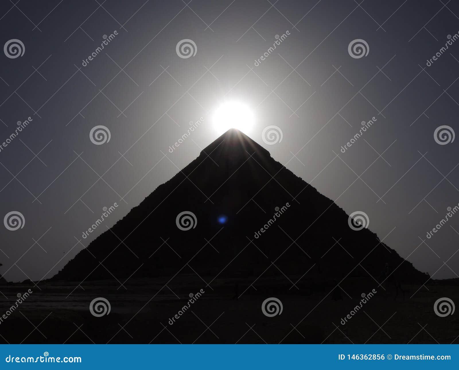 Pyramid of Kefren in Egypt